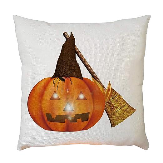 YWLINK Lino Funda De Almohada Halloween DecoracióN del Hogar ...