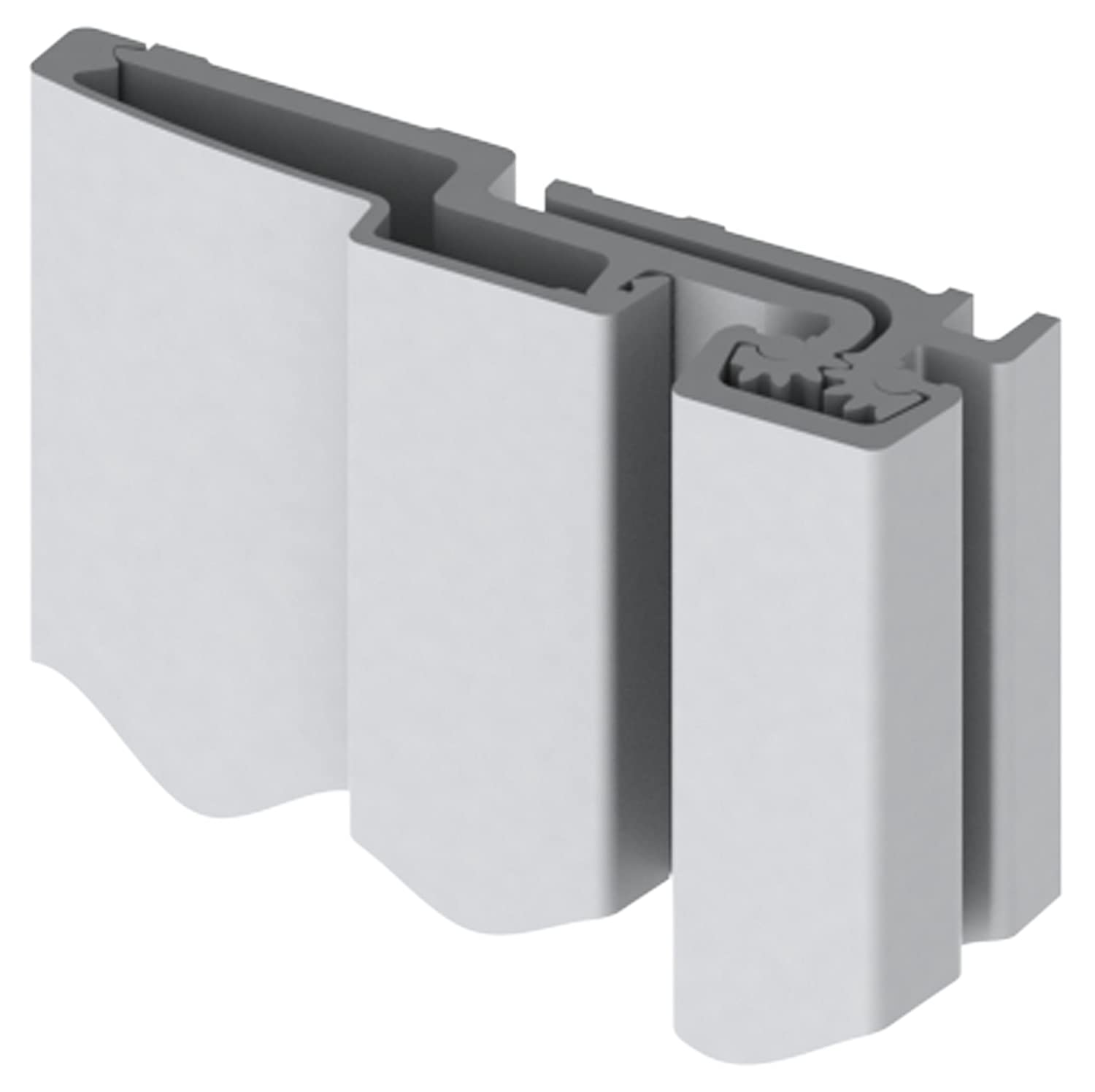 """Hager 780-157 Series Aluminum Standard Duty Fire Rated Roton Continuous Geared Hinges Full Surface Clear Anodized 95/"""" Length"""