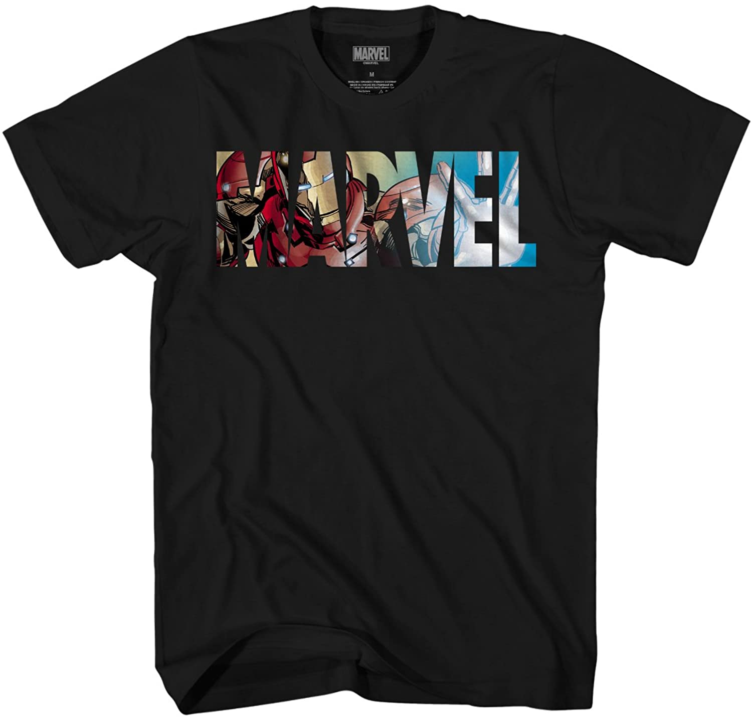 Marvel Logo Ironman Iron Man Avengers Super Hero Adult Graphic Mens T-Shirt