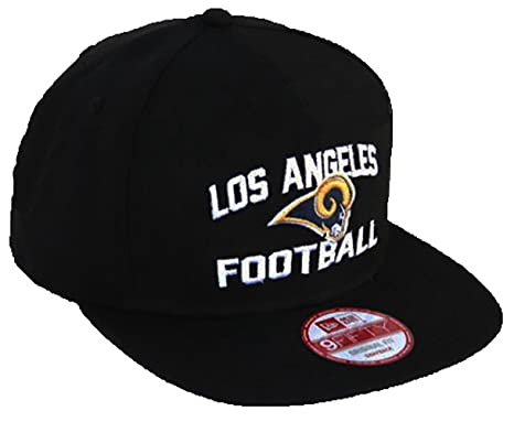 6a84cc1b1a6 New Era NFL L.A. Rams Los Angeles Football Script 9FIFTY Snapback Hat -  Black