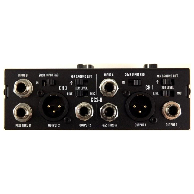 Ada amplificación gcs-6 estéreo Guitarra Simulador de armario di W aux en auriculares mezclador w/2 cables y gamuza de geartree: Amazon.es: Instrumentos ...