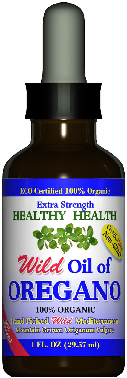 Extra Strength Wild Mediterranean Turkish 100 Eco Certified Organic Oil of Oregano 83 Carvacrol