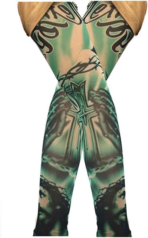 Mode Summer Pro Arm Manchettes Tatouage Course /à pied Manchettes