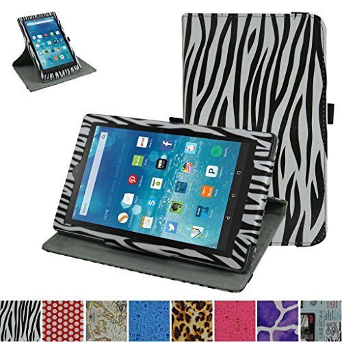 Fire HD 8 6th Generation 2016 Rotating Case,Mama Mouth 360 Degree Rotary Stand with Cute Pattern Cover for 8