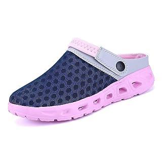Yooeen Mens Womens Mesh Sandals Garden Clog Shoes Breathable Summer Indoor Outdoor Slippers Lightweight Walking Beach Sports Sandals Pink