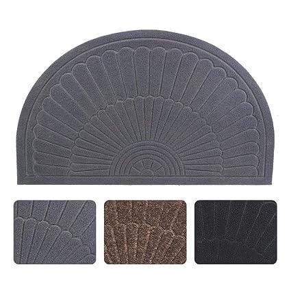 63464c9eeacb Half Round Door Mat Entrance Rug Floor Mats, Waterproof Floor Mat Shoes  Scraper Doormat, 18''x30'' Patio Rug Dirt Debris Mud Trapper Out Door Mat  Low ...