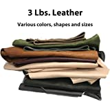 Memory Cross 3 lbs Real Cowhide Leather Scrap for Crafting - remnants, and Sizes - 4-15 Pieces