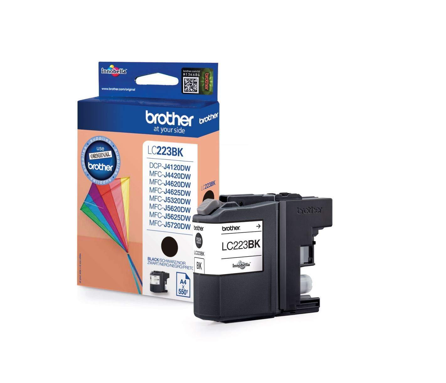 Original Brother Cartucho de tinta LC221 LC 221 LC-221 para Brother MFC J 1100 Series - NEGRO - potencia: Aprox. 260 Lados - (05) 4x Cartucho de tinta ...
