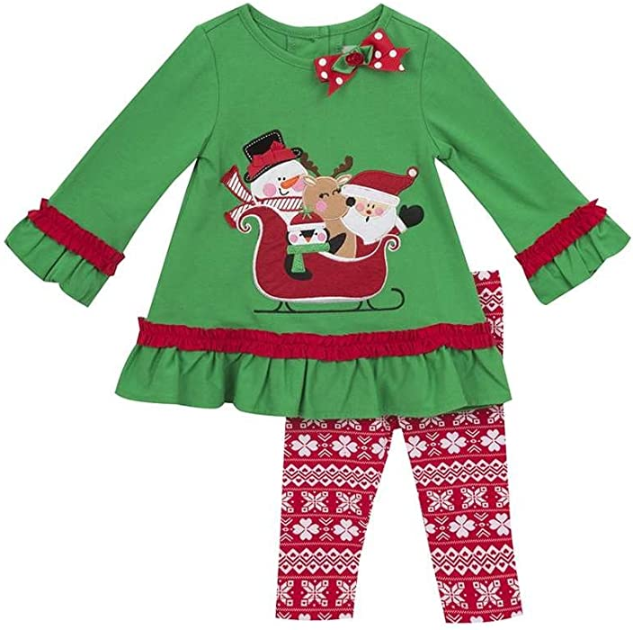 Rare Editions Christmas Toddler.Amazon Com Rare Editions Toddler Girls Santa Friends