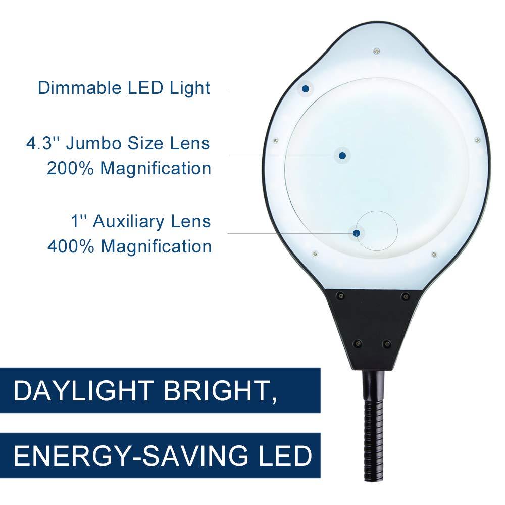 Amazon.com: PSIVEN - Lupa LED, intensidad regulable, 2 en 1 ...