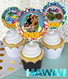 Crafting Mania LLC.. 12 Aloha Hawaii Birthday Inspired Party Picks, Cupcake Picks, Cupcake Toppers #1