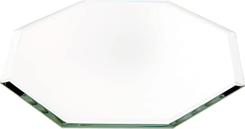 Plymor Octagon 3mm Beveled Glass Mirror, 6 inch x 6 inch Pack of 3