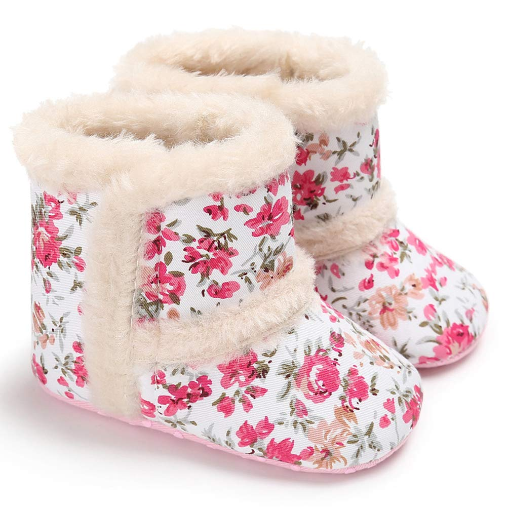 Fashion Faux Leather Infant Baby Soft Sole Warm Boots Prewalker Toddler Shoes