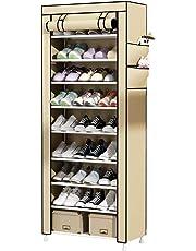 UDEAR Zapato del gabinete Zapatero de Tela 10 Niveles Zapateros y hormas para Zapatos