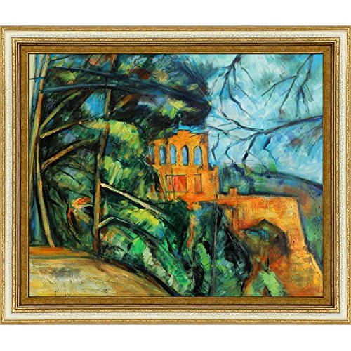 overstockArt Cezanne Chateau, Gold Finished Wood with Tuscan White Crackle Accent