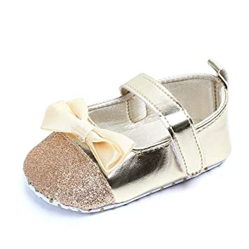 5c4968a143f4 Newborn Baby Girls Bling Sequins Sneaker Soft Sole Anti-slip Crib Shoes  Toddler First Walking