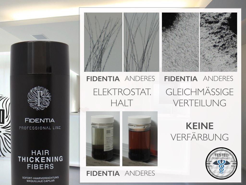 Fidentia Premium Schütthaar Streuhaar- Professional Line Haarverdichtung BEI LICHTEM, FEINEM HAAR 10g, Blond - Blond
