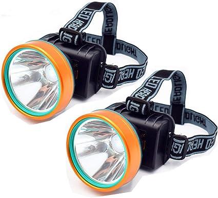 L/ámparas de Cabeza L/ámpara de antorcha de luz de Cabeza con Zoom LED Recargable USB Impermeable con bater/ía de Litio Interna