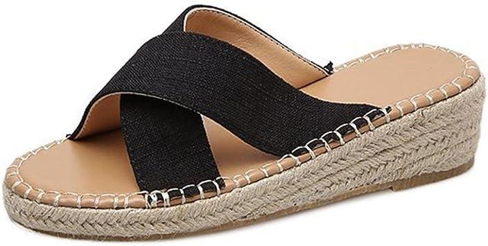 ZARLLE_chanclas Chanclas Mujer Verano,ZARLLE Moda Mujer Chica Verano Sandalias Alpargatas Sandalias CuñAs Beach Slipper Sandalias Zapatillas De Interior Al Aire Libre Flip-Flops Zapatos De Playa: Amazon.es: Electrónica
