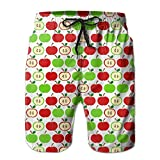 Men Red Green Apples Fruit Summer Quick-drying Swim - Best Reviews Guide