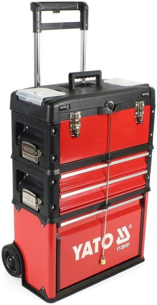 YATO YT-09101 - caja de herramientas carro compone de 3 partes: Amazon.es: Bricolaje y herramientas