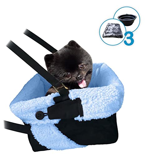 Amazon.com : Blue & Black Car Booster Seat + Plush Blanket + ...