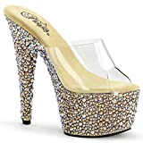 Pleaser Women's Bejeweled-701Ms Sandals,Gold,7 M