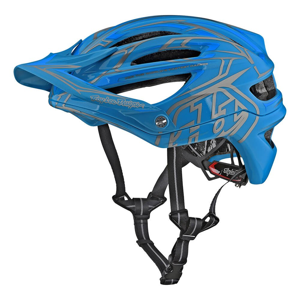 Troy Lee Designs A2 Pinstripe 2 Mountain Bike Adult Helmet 2018 with MIPS Protection and X-Static Liner meets/exceeds CPSC CE-EN AS/NZS Medium/Large Ocean Blue