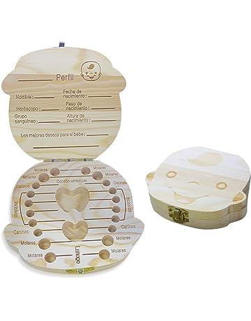 Spanish texto bebé dientes caja, Aitsite save cajas de madera personalizada caja de recuerdos de