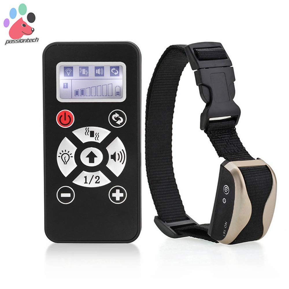 Waterproof and Rechargeable Remote Dog Shock Collar, Remote pet Training Anti bark Collar 600m