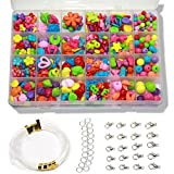 Ewparts Children DIY Bracelet Bead Art & Jewellery-Making , Girls Craft Set , Baby girl Gift ,Bead string making set , Cultivate Color sensitive, Color will not Fade (Multi-coloured)