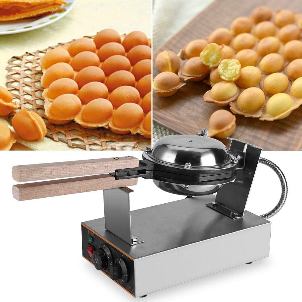 Electric Stainless Steel Waffle Bake Machine, Stainless Steel Electric Egg Cake Oven Puff Bread Maker Bake Machine 110V US Plug