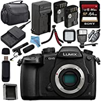 Panasonic Lumix DC-GH5S Mirrorless Micro Four Thirds Digital Camera + Panasonic Lumix G X Vario 12-35mm f/2.8 II ASPH. POWER O.I.S. Lens + DMW-BLF19 Lithium Ion Battery + 128GB SDXC Card Bundle