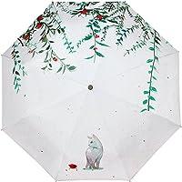 Cat Willow 3 Folding Parasol Sun Protection Anti-UV Travel Umbrella