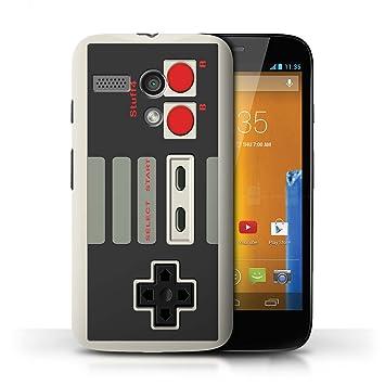 Carcasa/Funda STUFF4 dura para el Motorola MOTO G (2013) / serie: Consola de juegos - Nintendo clásica