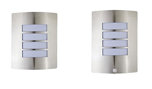 12W LED massives Edelstahl Wandlampe Bewegungsmelder Wandleuchte Edelstahl inkl