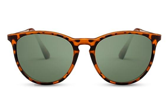 660371b86b2e83 Cheapass Sunglasses Round Glasses Brown Leo Print Vintage Women Men   Amazon.co.uk  Clothing