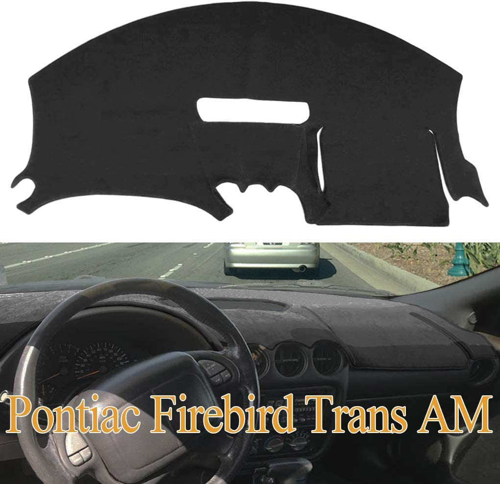 Dashboard Cover Dash Cover Mat Pad Custom Fit for Pontiac Firebird 1997-2002 (Black) Y41