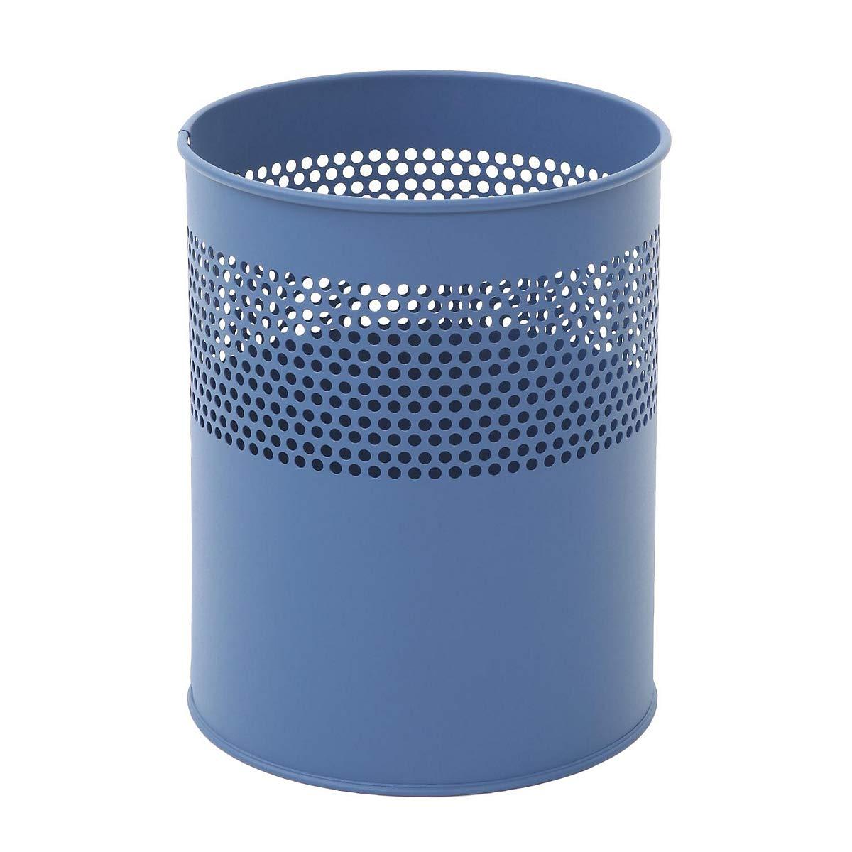 V-Part de VB 270510 - Papelera cilíndrica de V-Part metal (10 L), color azul 054209