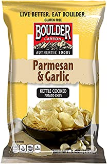 product image for Boulder Canyon Kettle Cooked Potato Chips, Parmesan & Garlic, 5 Ounce (Pack of 12)