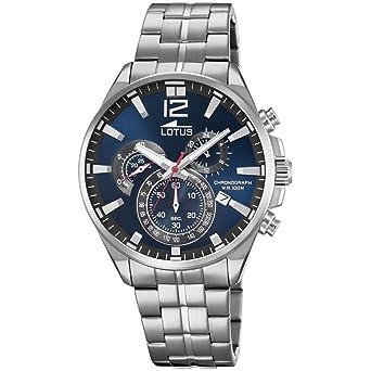 Lotus Reloj Cronógrafo para Hombre de Cuarzo con Correa en Acero Inoxidable 10136/3: Amazon.es: Relojes