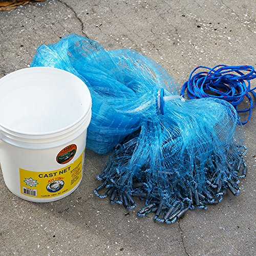 "Joy Fish Mullet Cast Net: 1"" Sq. Mesh, 5 ft Radius from Joy Fish"
