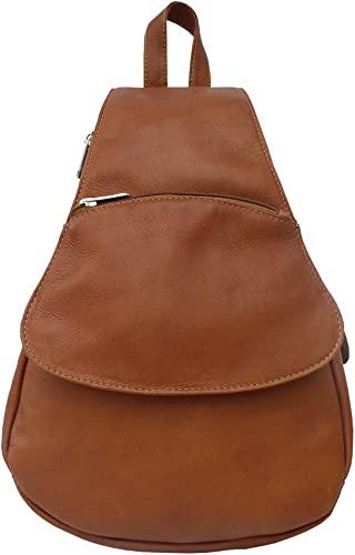 Piel Leather Flap-Over Sling, Saddle, One Size