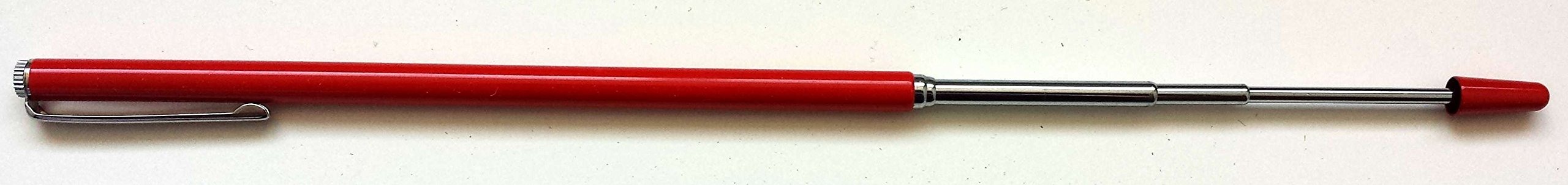 Metal Retractable/Telescoping Red Pointer, extends to approx. 35'', AA-778NO w/pocket clip for Educators/Therapists.