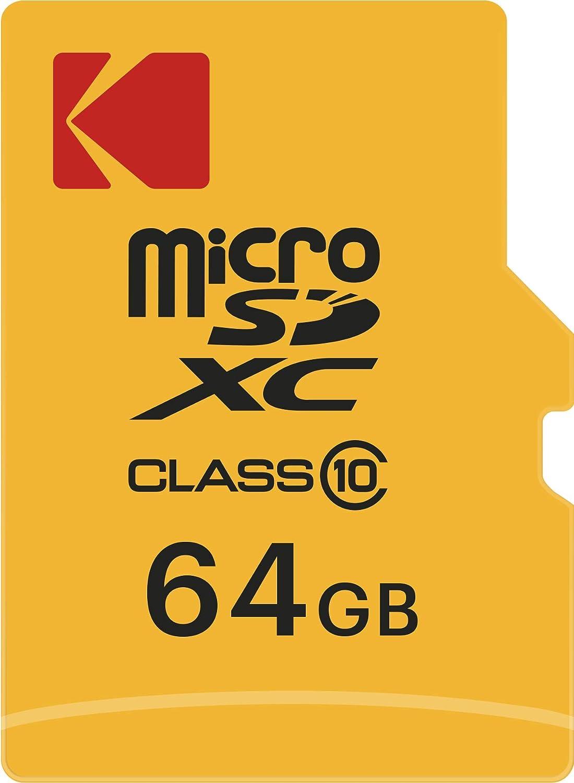 Kodak 64gb Class 10 Micro Sd Memory Card With Sd Computers Accessories