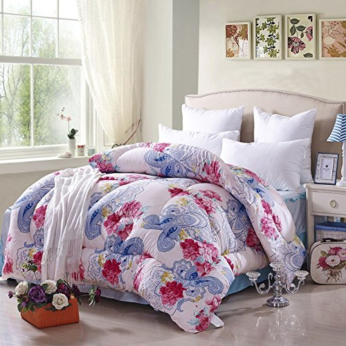 All Flowers Bloom Together Multicolor Comforter Down Alternative Comforter Cheap Comforter Teen Comforter Girls Comforter Discount Comforter, Twin XL Size