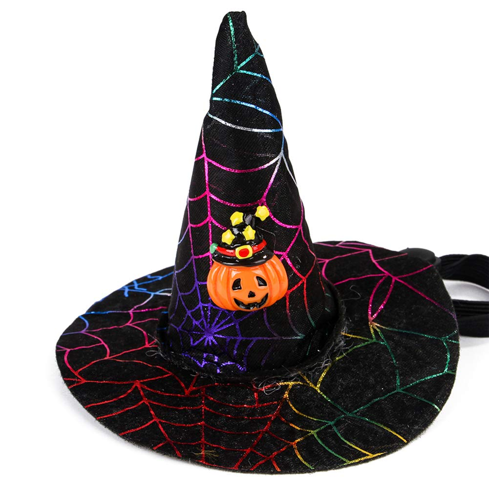 Black Cat hat Halloween party hat adjustable NEW orange
