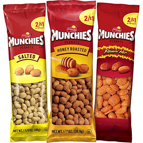 Munchies Peanut Variety Pack (Salted, Flamin Hot, Honey Roasted), 36 Count