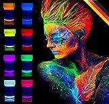#1: 8 x UV Body Paint Black Light Make-Up Bodypainting Neon Blacklight Bodypaint Face Paints