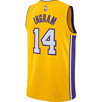 classic fit f701e 6c4a6 Ingram Men's Yellow Lakers Swingman Jersey Shirt 17/18
